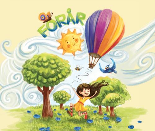 Musicarma illustration fra bogen og remsen til Den blå anemone