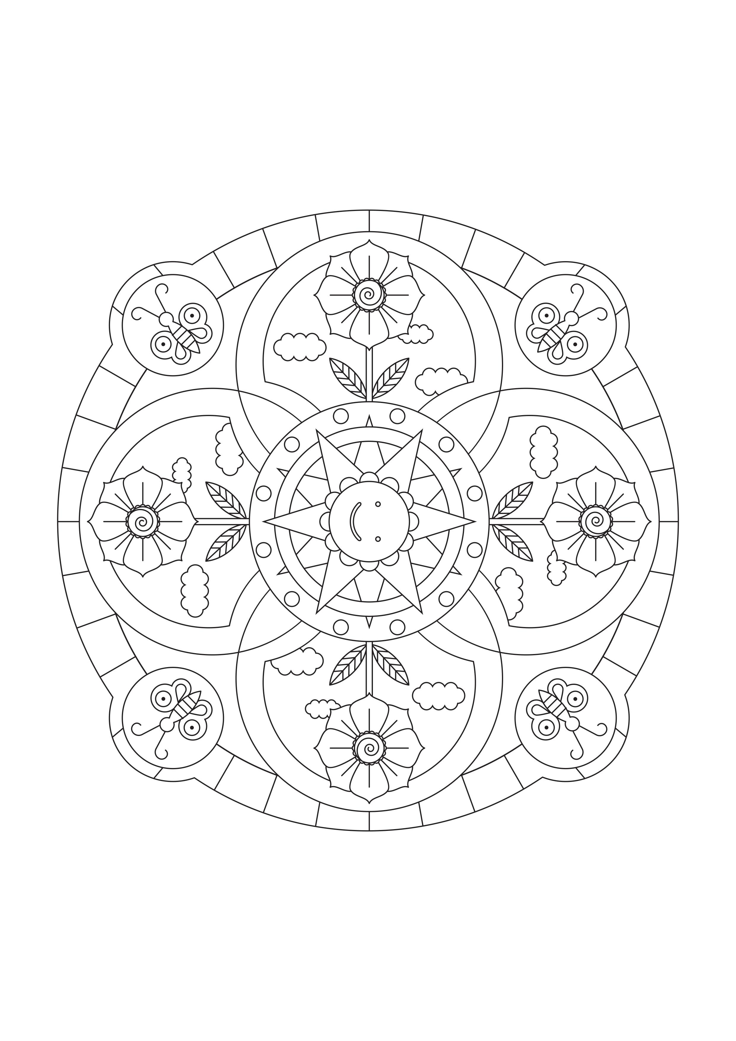 Fin Mindful mandala malebog for børn fra Musicarma SH-75