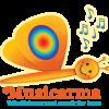Musicarma logo - En smilende sommerfugl med musik